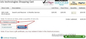 Redeem a Search and Recover coupon