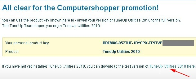 TuneUp Utilities 2010 Product Key For Free