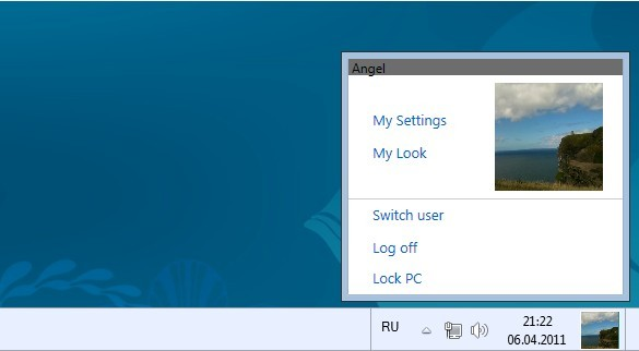 Add Windows 8 like User Tile in Windows 7 Taskbar