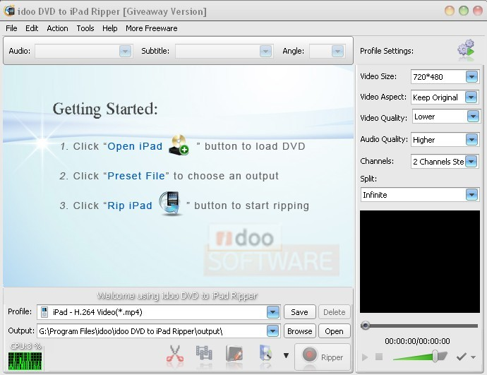 idoo DVD to iPad Ripper Software