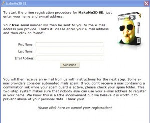 enter your name and email address to subscribe MakeMe3d