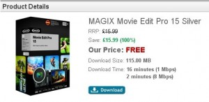 MAGIX Movie Edit Pro 15 Silver v3 Store Giveaway
