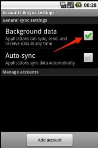 Make sure that you have Background data enabled in your Android Phone Accounts & Sync settings