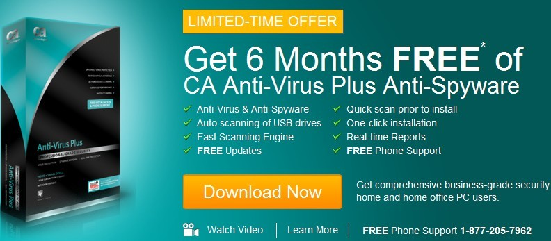 CA Anti-Virus Plus Anti-Spyware With 6 Month Subscription Free Giveaway