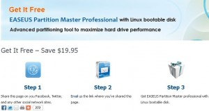 EASEUS Partition Master Professional Giveaway