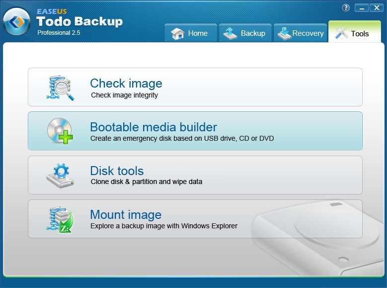 Download Easeus Todo Backup Professional 2.5 for FREE