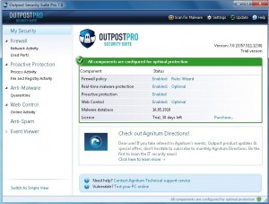 Outpost Security Suite Pro 7.1