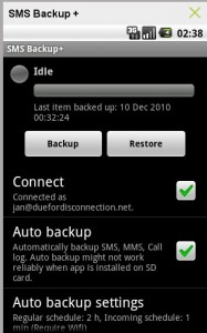 Backup & Restore Android SMS Messages with Gmail