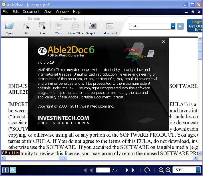 Able2Doc PDF to Word Converter 6.0 For Free