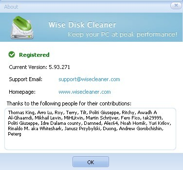 About Wise Disk Cleaner Pro 5.93