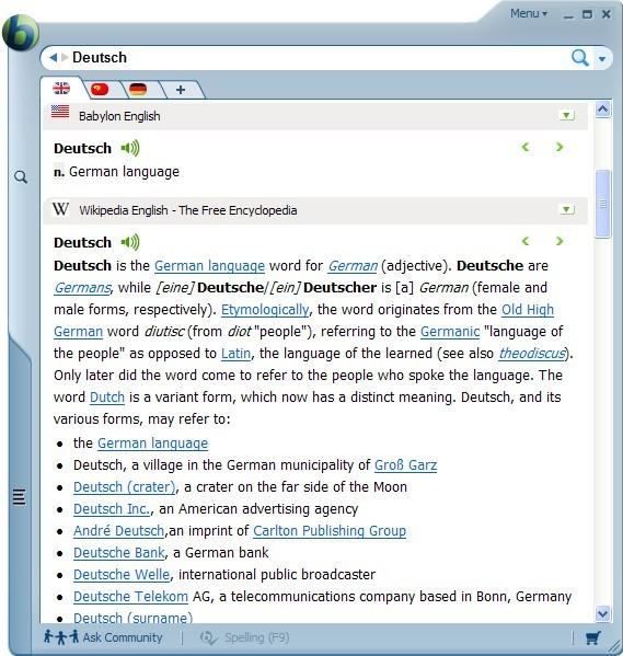 Babylon 9 translation software