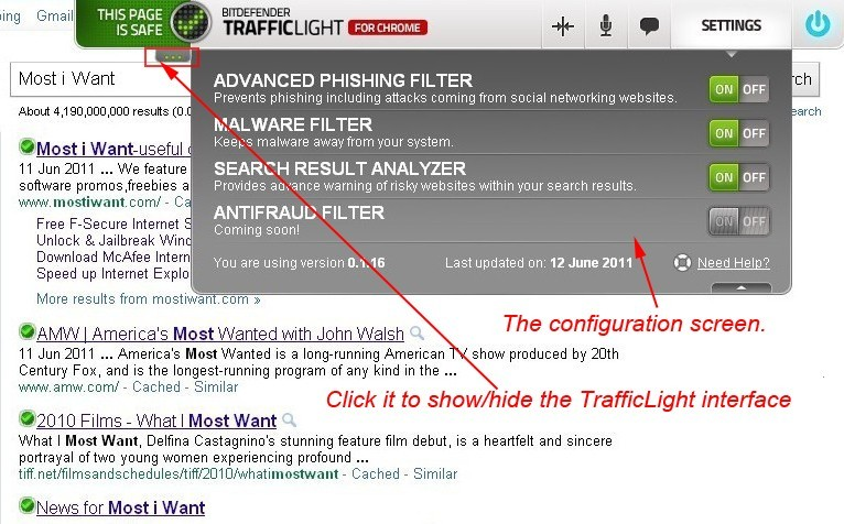 BitDefender TrafficLight: Cross-browser Anti-virus, Anti-phishing Add-on