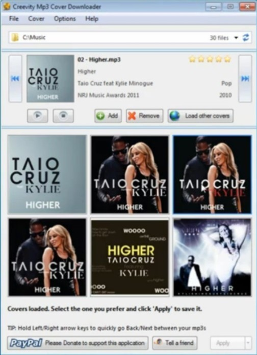 Download Free Cover Images (Album Arts) for MP3 Files with