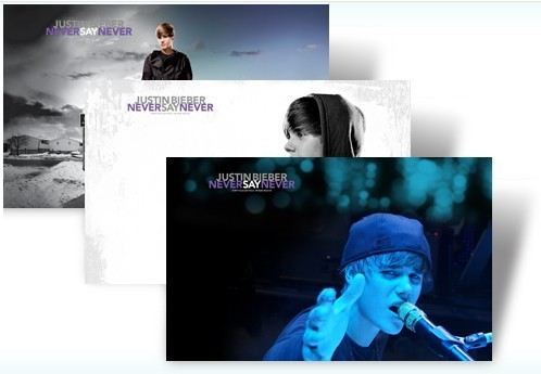 Justin Bieber Never Say Never Windows 7 Theme Pack