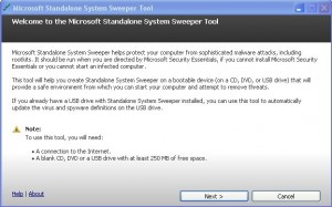 Microsoft Standalone System Sweeper - Free System Recovery Software