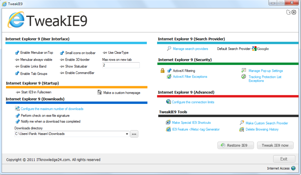 TweakIE9 v2.0 Released - Free Download