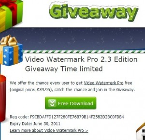 Video Watermark Pro Special Promotional Giveaway