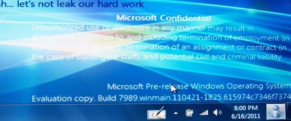 Windows 8 Milestone 3 Build 7989 Leaked Screenshots - Screenshot 1
