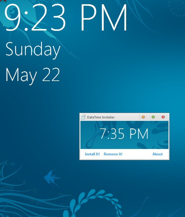 Windows 8 Metro Style Clock and Date for Windows 7 Logon Screen