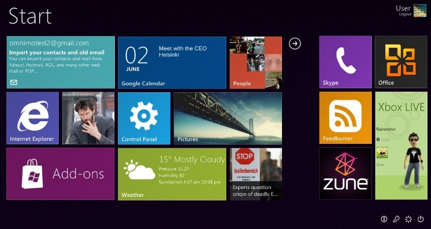 Windows 8 Metro Style tile-based Start screen For windows 7 / XP
