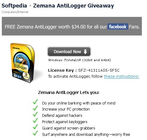 Zemana AntiLogger Free 1 Year Serial Number Download