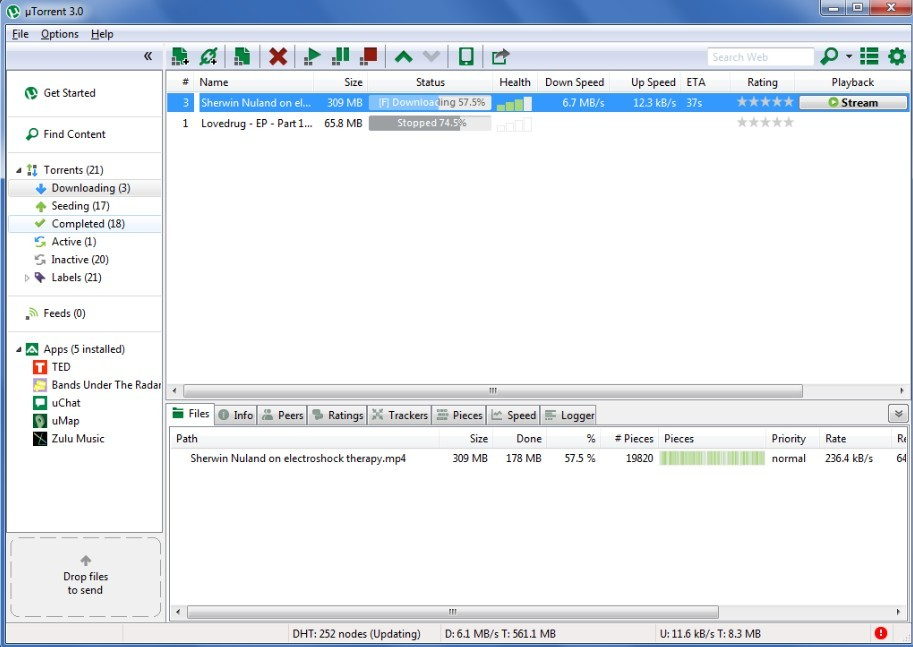 uTorrent 3.0 - the latest version of the popular Bit torrent client