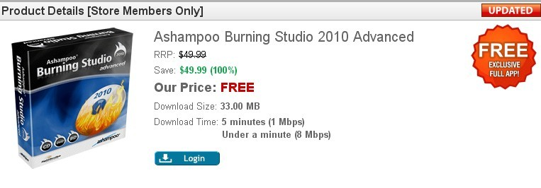 Ashampoo Burning Studio 2010 Advanced Free Giveaway