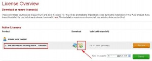 Download your Avira premium security 10 HDEBD.KEY valid for 92 days