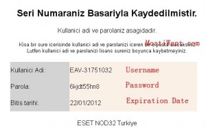 ESET Mobile Security Free Username and Password