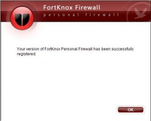 Register FortKnox Personal Firewall V7 with Received Serial Number