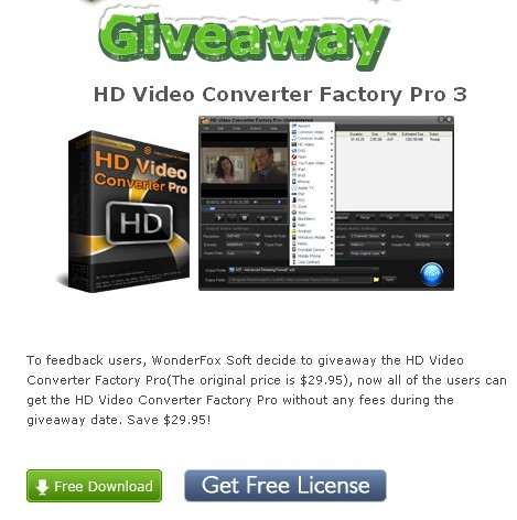 HD Video Converter Factory Pro 3 Giveaway