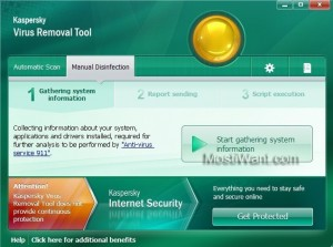 Kaspersky Virus Removal Tool 2011 - Manual Disinfection