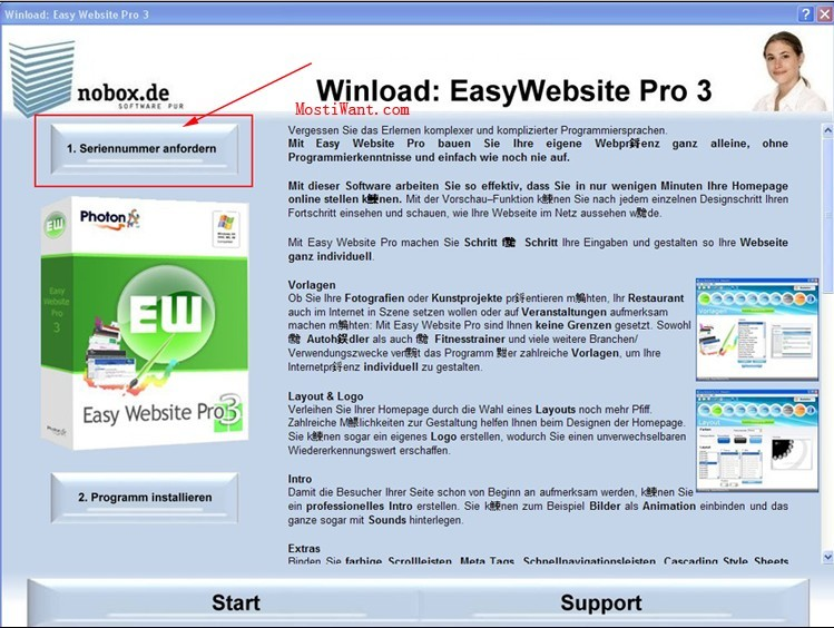 Get Easy Website Pro 3.0 Serial Number For Free - step 1