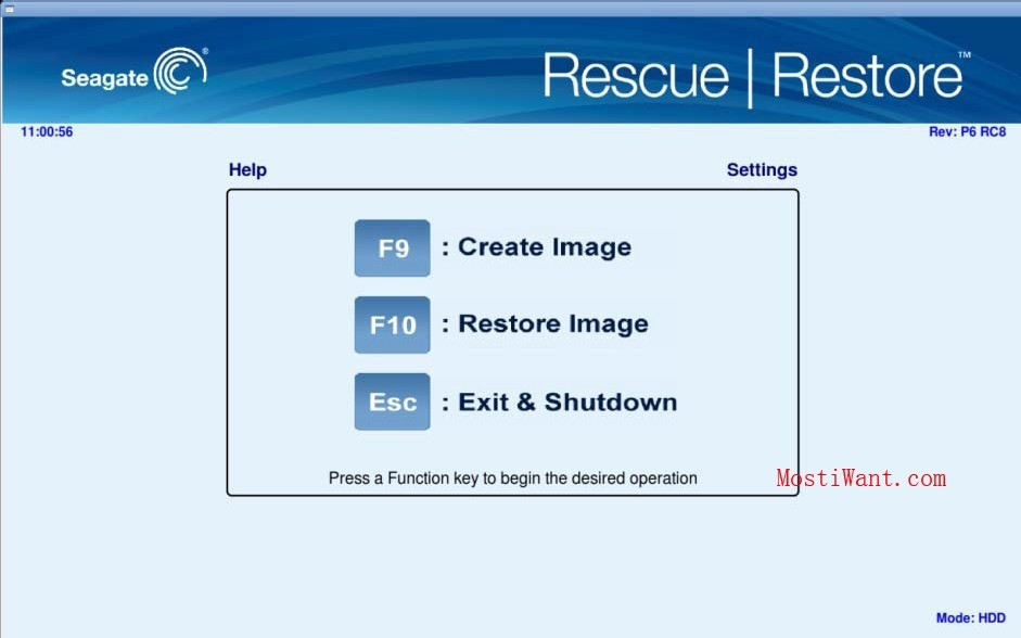 Seagate Rescue Restore Software