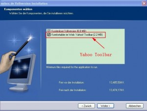 Easy Website Pro tries to install Yahoo toolbar