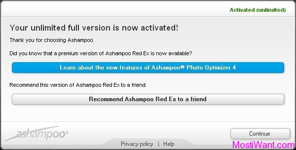 Ashampoo Red Ex Full Version