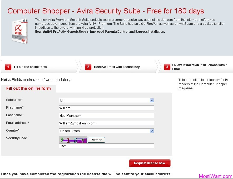 Avira Premium Security Suite Promotion 2011