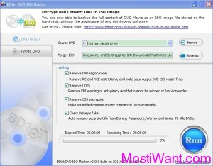 Backup (Decrypt and Convert) DVD to iso Image