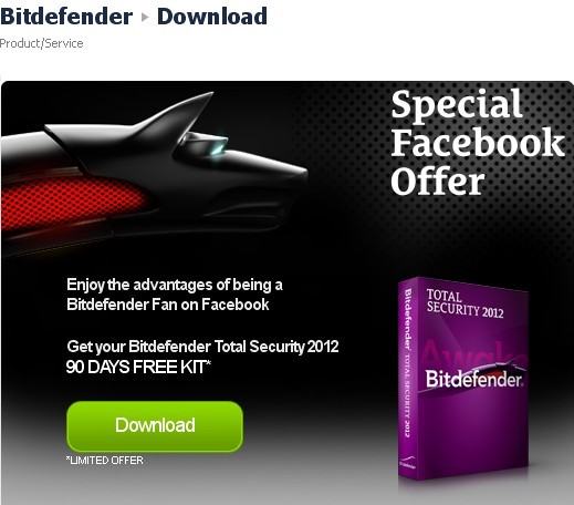 Download BitDefender Total Security 2012 Free 90 days Serial Key Code
