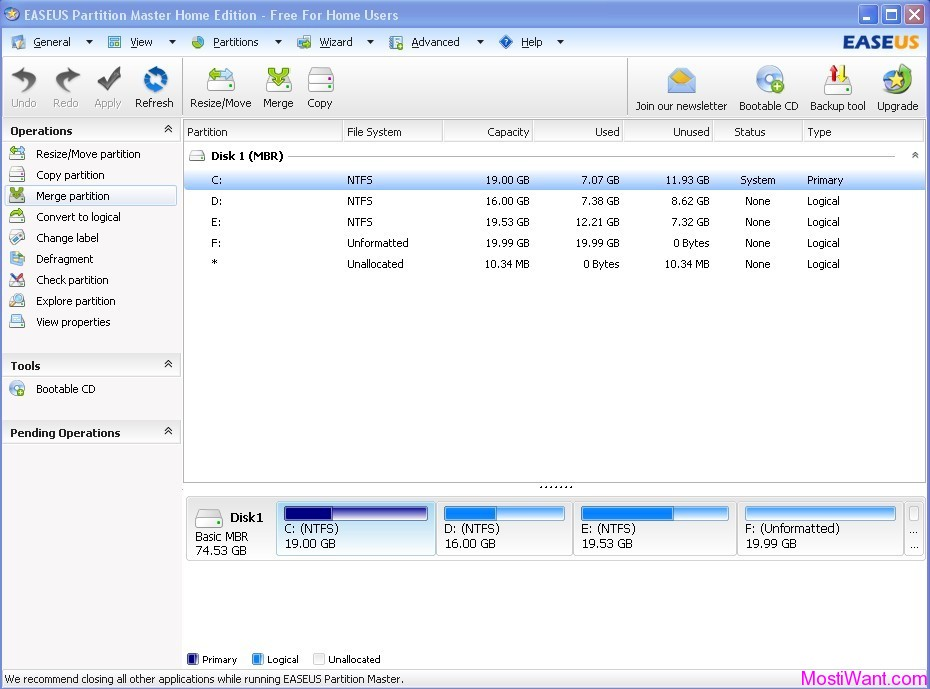 EaseUS Partition Master Home Edition 9.0