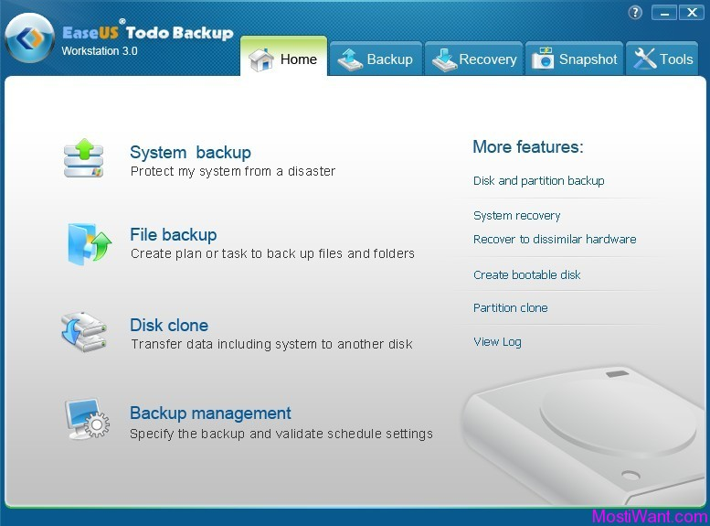 EaseUS Todo Backup Workstation 3.0