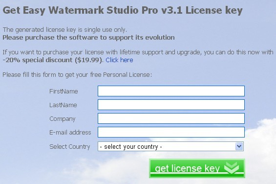 Easy Watermark Studio Pro v3.1 Serial Number Giveaway