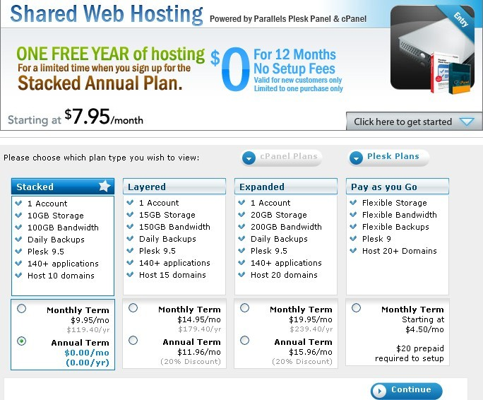 Free 1 Year Shared Web Hosting Plan From JumpLine