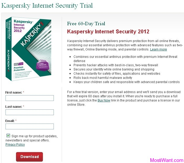 Kaspersky Internet Security 2012 Free 60 Days Trial