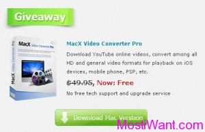 MacX Video Converter Pro For Mac OS X Giveaway