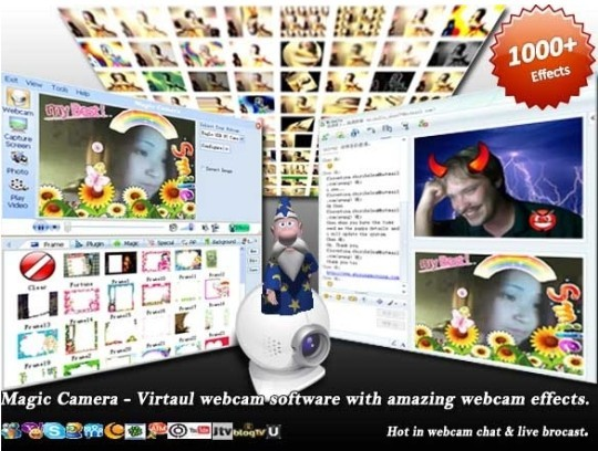Magic Camera: a must-have webcam enhancing program for webcam chat & webcam effects.