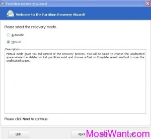 EaseUS Partition Master Home Edition 9.0 Partition Recovery Wizard