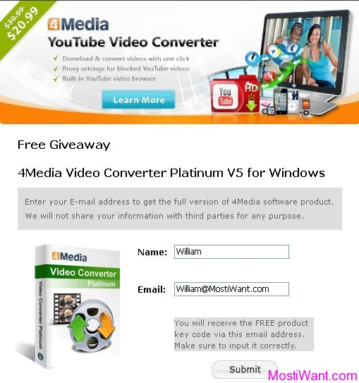 4Media Video Converter Platinum Giveaway