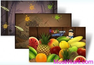 Fruit Ninja game-based Windows 7 Theme Pack