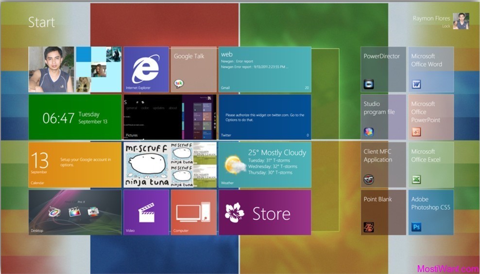 Windows 8 Metro UI For Windows 7 and Vista